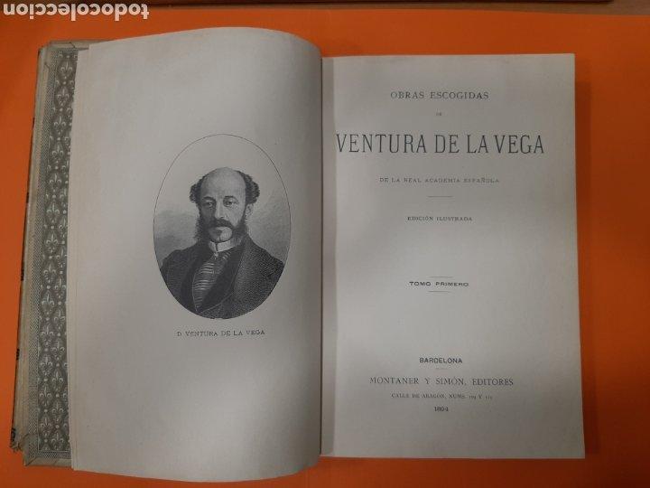 Libros antiguos: OBRAS ESCOGIDAS DE VENTURA DE LA VEGA. 2 TOMOS. MONTANER Y SIMÓN, 1894. - Foto 2 - 176586814