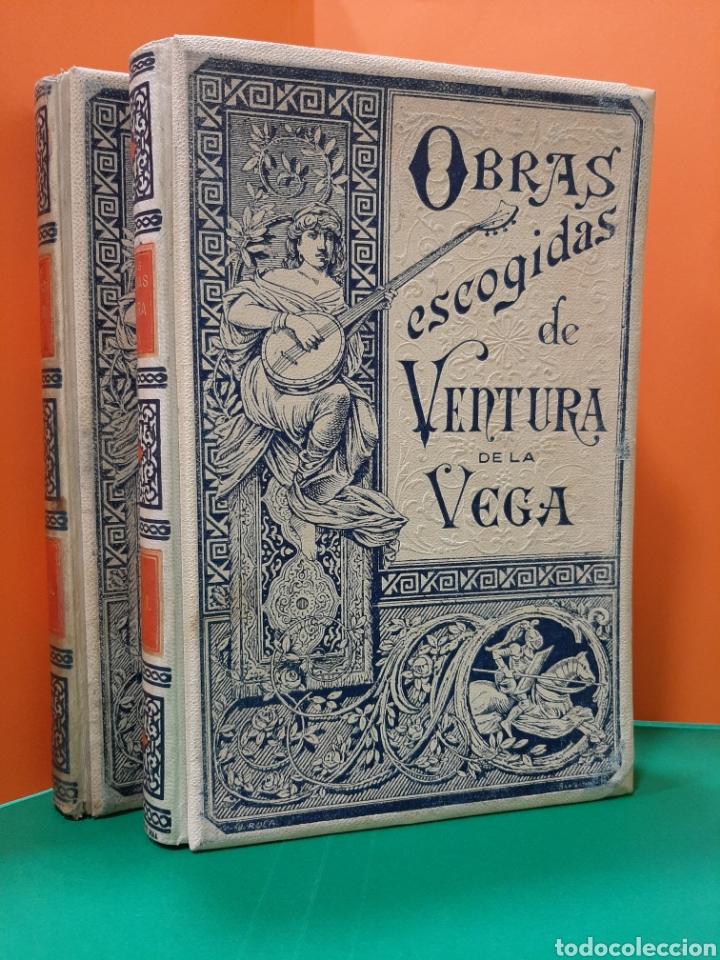 OBRAS ESCOGIDAS DE VENTURA DE LA VEGA. 2 TOMOS. MONTANER Y SIMÓN, 1894. (Libros antiguos (hasta 1936), raros y curiosos - Literatura - Teatro)
