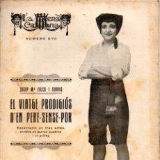 Libros antiguos: JOSEP Mª FOLCH I TORRES : EL VIATGE PRODIGIÓN D'EN PERE SENSE POR (ESCENA CATALANA, 1928). Lote 178895835