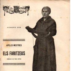 Libros antiguos: APELES MESTRES : ELS FARITZEUS (ESCENA CATALANA, 1928) . Lote 178896147