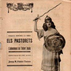 Libros antiguos: JOSEP Mª FOLCH I TORRES : ELS PASTORETS (ESCENA CATALANA, 1919). Lote 178896280