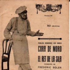 Libros antiguos: FREDERIC SOLER PITARRA : CURA DE MORO I EL RET DE LA SILA (ESCENA CATALANA, 1925). Lote 178896888