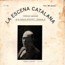 Libros antiguos: POMPEU CREHUET : LA SEGONA JOVENTUT (ESCENA CATALANA, 1931). Lote 178900013