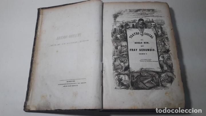 LIBRO TEATRO SOCIAL DEL SXIX POR FRAY GERUNDIO ORIGINAL 1846 (Libros antiguos (hasta 1936), raros y curiosos - Literatura - Teatro)