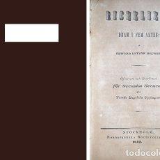 Libros antiguos: LYTTON, EDWARD BULWER LYTTON, BARON. RICHELIEU. DRAM I FEM AKTER. 1840.. Lote 180327082