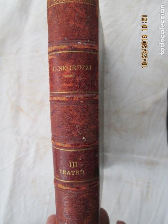 Libros antiguos: SCRIERILE LUI CONSTANTIN NEGRUZZI - VOLUMEN III - TEATRU - BUCURESCI 1873. - Foto 3 - 181139002