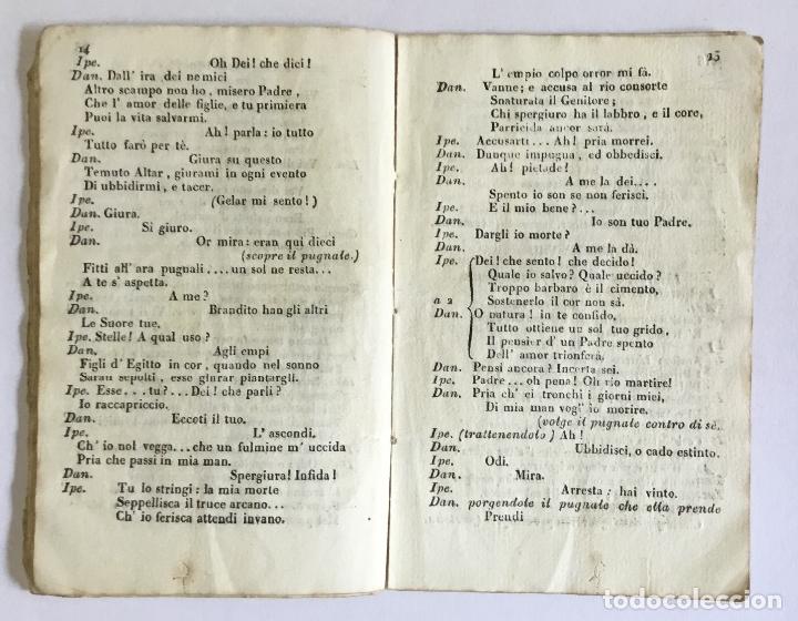 Libros antiguos: DANAO, RE D'ARGO. Dramma serio per Musica da rappresentarsi nel Teatro dell' eccma. cittá di Barcell - Foto 4 - 123268750