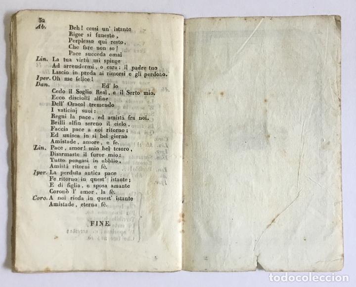 Libros antiguos: DANAO, RE D'ARGO. Dramma serio per Musica da rappresentarsi nel Teatro dell' eccma. cittá di Barcell - Foto 5 - 123268750