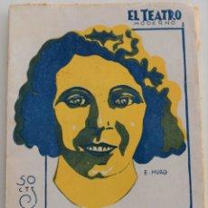 Libros antiguos: EL TEATRO MODERNO - CAMINO ADELANTE - POR M. LINARES RIVAS - Nº 208 - AÑO 1929. Lote 181563230