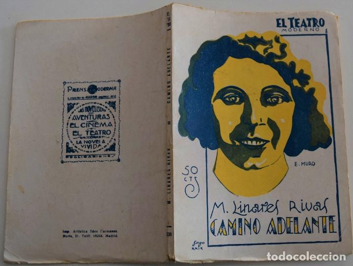 Libros antiguos: EL TEATRO MODERNO - CAMINO ADELANTE - POR M. LINARES RIVAS - Nº 208 - AÑO 1929 - Foto 2 - 181563230