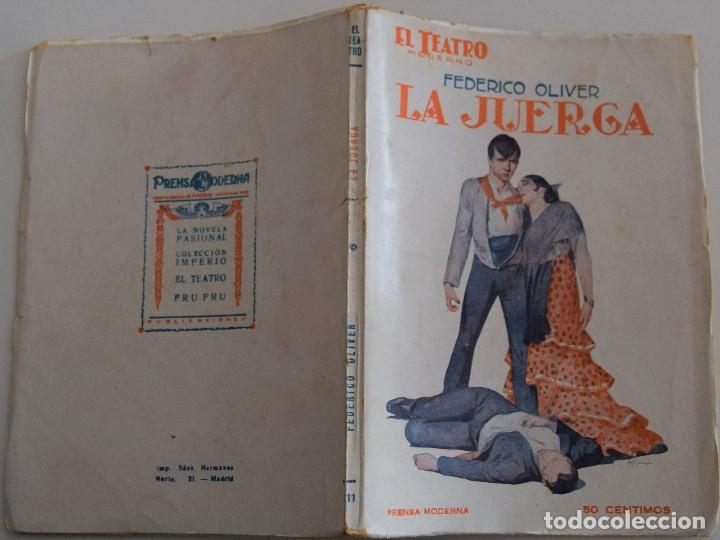 Libros antiguos: EL TEATRO MODERNO - LA JUERGA - POR FEDERICO OLIVER - Nº 111 - AÑO 1927 - Foto 2 - 181564360