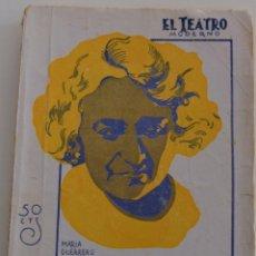 Libros antiguos: EL TEATRO MODERNO -EN FLANDES SE HA PUESTO EL SOL - POR EDUARDO MARQUINA - Nº 192 - AÑO 1929. Lote 181565968