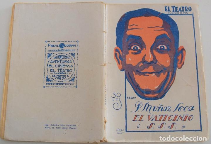 Libros antiguos: EL TEATRO MODERNO - EL VATICINIO - P. MUÑOZ SECA - Nº 206 - AÑO 1929 - Foto 2 - 181566140