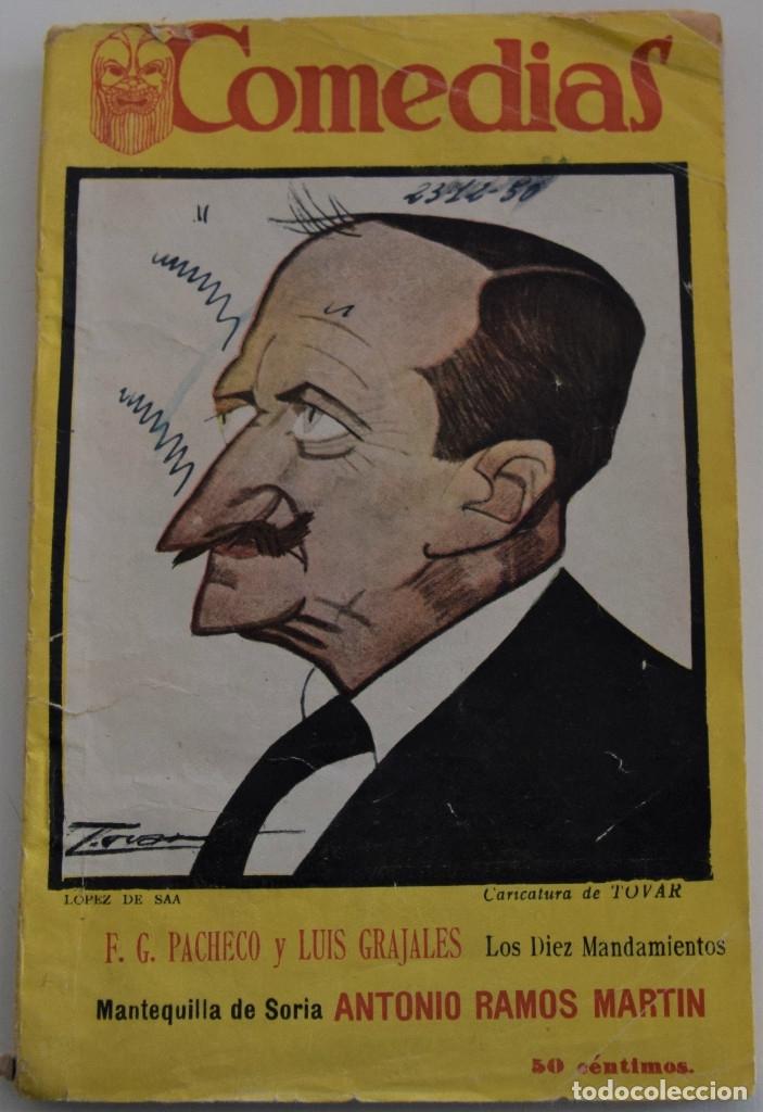 COMEDIAS Nº 69 - LOS DIEZ MANDAMIENTOS - POR F.G. PECHECO Y LUIS GRAJALES (Libros antiguos (hasta 1936), raros y curiosos - Literatura - Teatro)