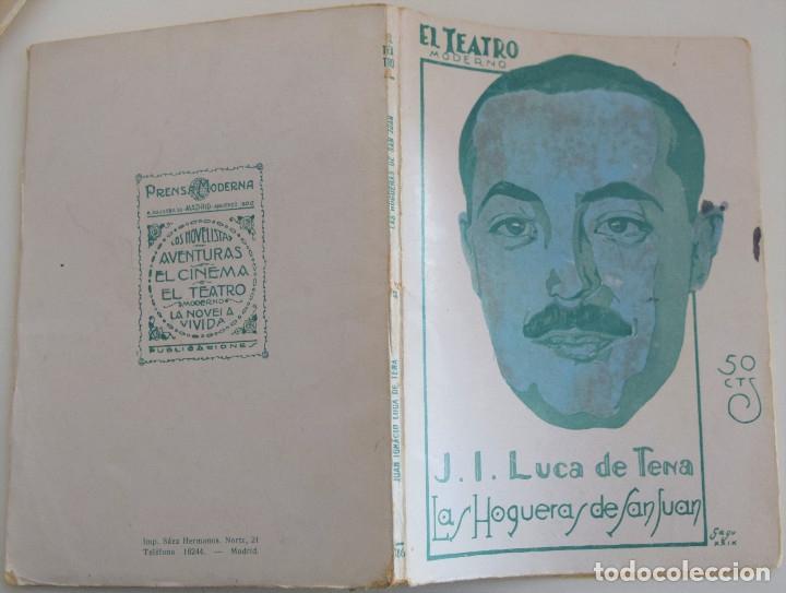 Libros antiguos: EL TEATRO MODERNO Nº 186 - LAS HOGUERAS DE SAN JUAN - J. L. LUCAS DE TENA - Foto 2 - 182477933