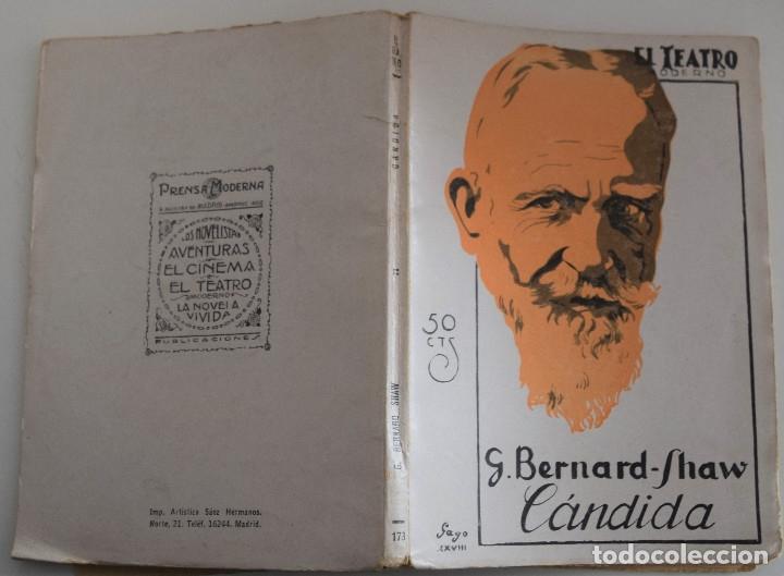 Libros antiguos: EL TEATRO MODERNO Nº 173 - CANDIDA - POR G. BERNARD - SHAW - Foto 2 - 182479281