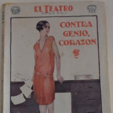 Libros antiguos: EL TEATRO MODERNO Nº 128 - CONTRA GENIO, CORAZÓN - POR LUIS URIARTE. Lote 182480583