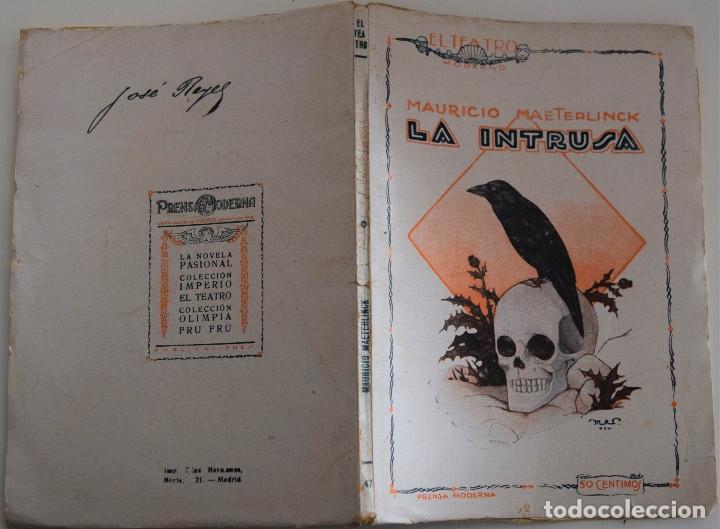Libros antiguos: EL TEATRO MODERNO Nº 47 - LA INTRUSA - POR MAURICIO MAETERLINCK - Foto 2 - 182481273