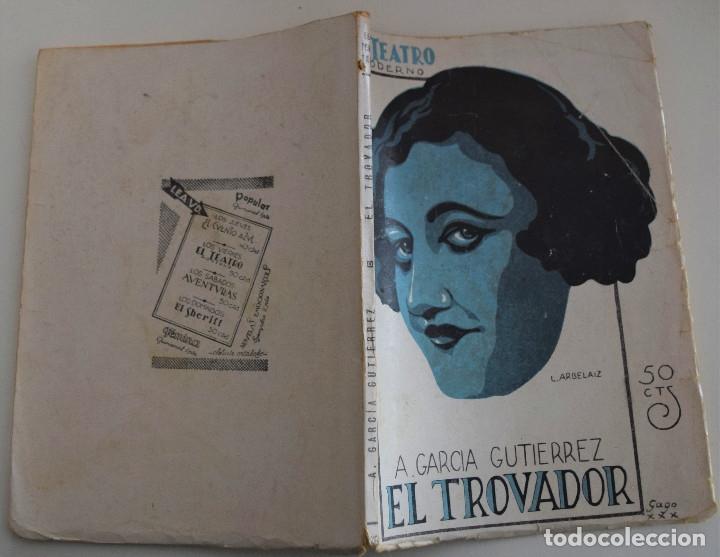 Libros antiguos: EL TEATRO MODERNO Nº 260 - EL TROVADOR - A. GARCIA GUTIERREZ - Foto 2 - 182571436