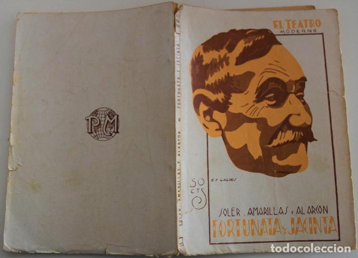Libros antiguos: EL TEATRO MODERNO Nº 273 - FORTUNA Y JACINTA - POR SOLER, AMARILLAS Y ALARCÓN - Foto 2 - 182571687