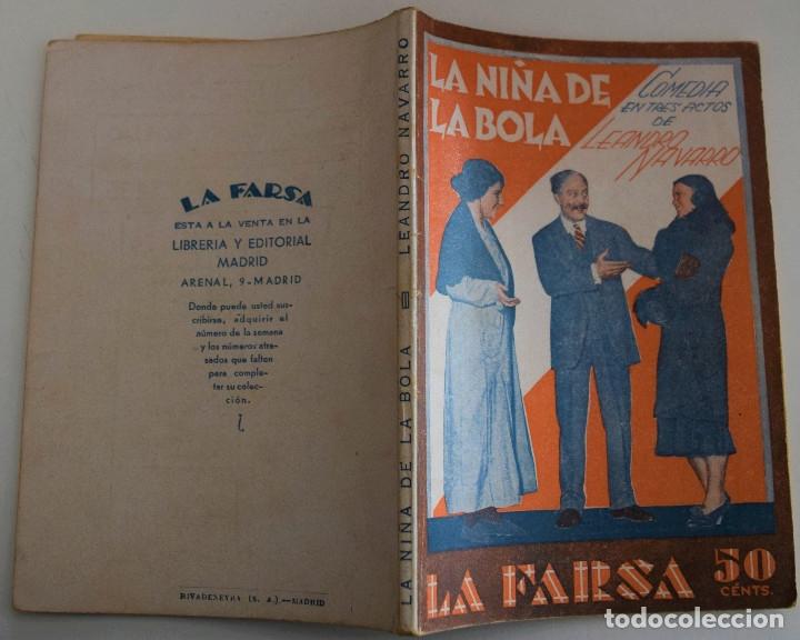 Libros antiguos: LA FARSA Nº 210 - LA NIÑA DE LA BOLA - PORLEANDRO NAVARRO - Foto 2 - 182854053