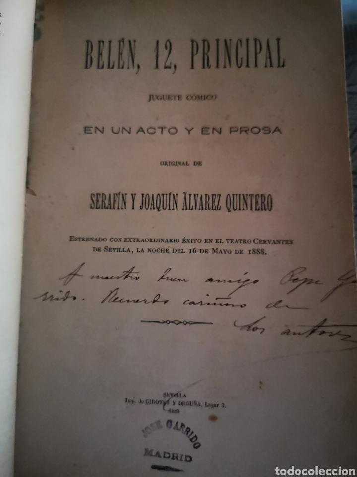 Libros antiguos: Serafín y Joaquín Álvarez Quintero, tomo de 15 primeras ediciones. Dedicadas por los autores - Foto 3 - 183174895