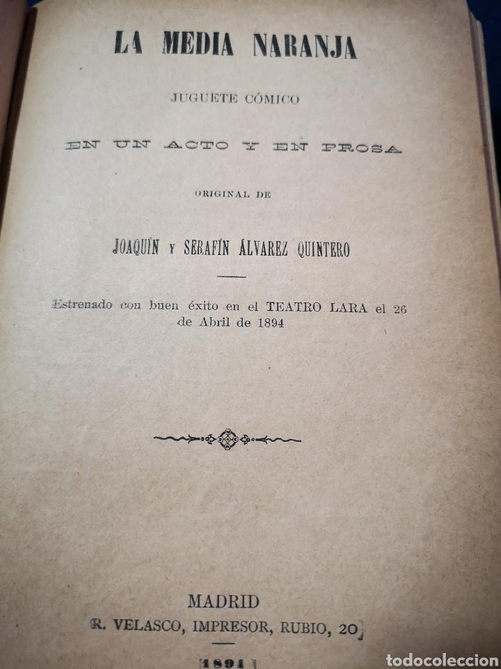 Libros antiguos: Serafín y Joaquín Álvarez Quintero, tomo de 15 primeras ediciones. Dedicadas por los autores - Foto 6 - 183174895