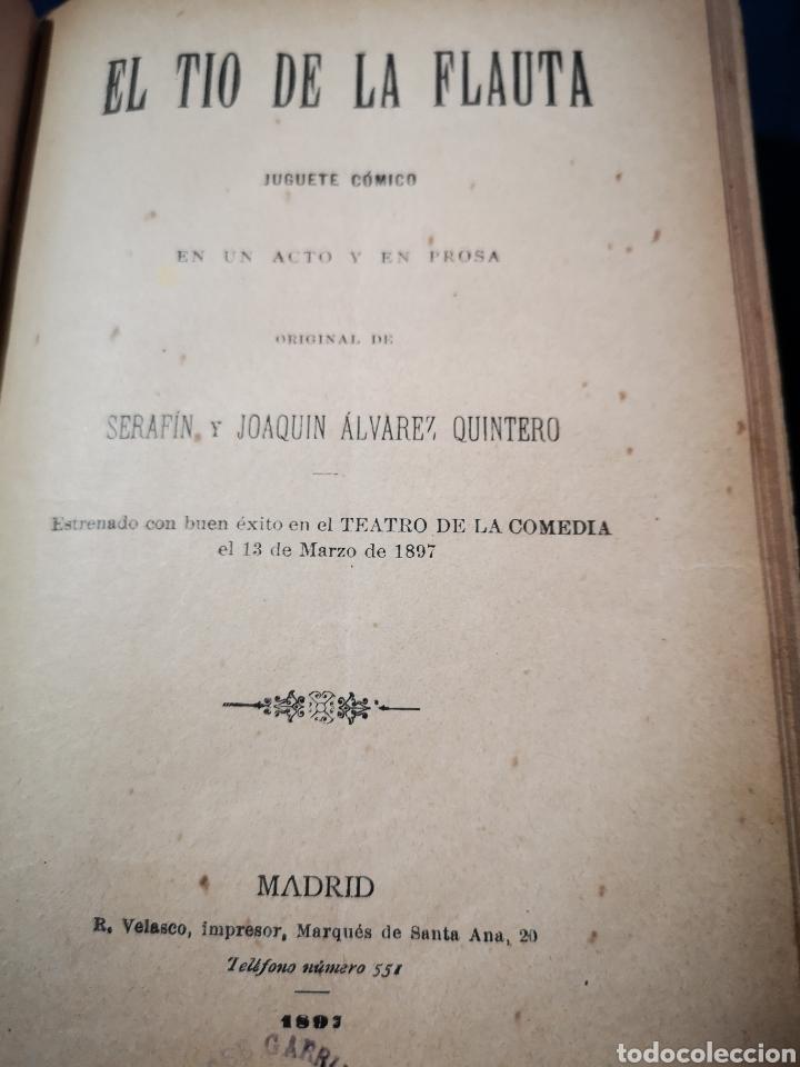 Libros antiguos: Serafín y Joaquín Álvarez Quintero, tomo de 15 primeras ediciones. Dedicadas por los autores - Foto 7 - 183174895