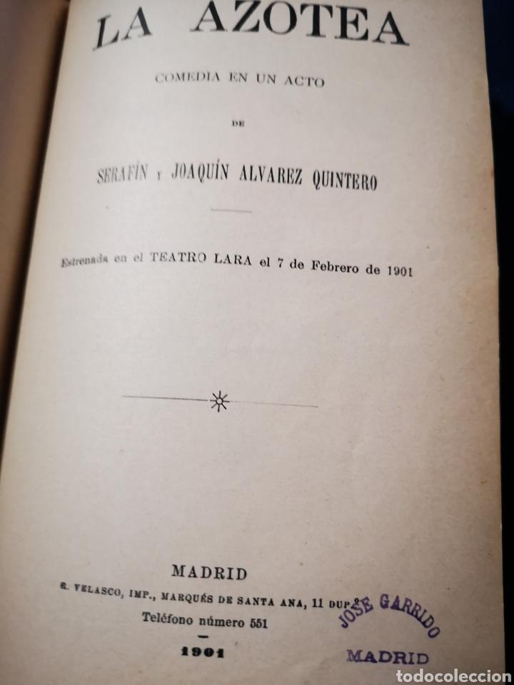 Libros antiguos: Serafín y Joaquín Álvarez Quintero, tomo de 15 primeras ediciones. Dedicadas por los autores - Foto 19 - 183174895