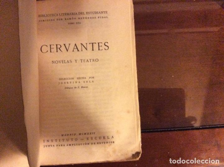 Libros antiguos: Cervantes novelas y teatro Madrid 1922 - Foto 3 - 184123516