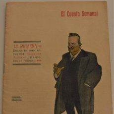 Libros antiguos: EL CUENTO SEMANAL Nº 5 - LA GUITARRA - POR SALVADOR RUEDA - AÑO 1907. Lote 184279883