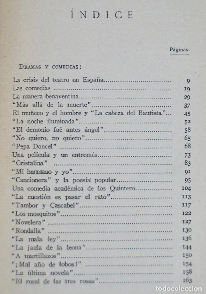 Libros antiguos: Enrique de Mesa. Obras Completas. Apostillas a la Escena. Renacimiento. 1º Edición. Madrid, 1929 - Foto 4 - 185253081