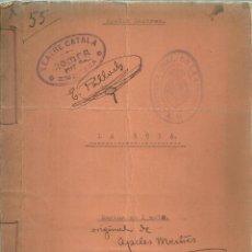 Libros antiguos: 1261.- APEL.LES MESTRES - LA NOIA MARINA EN 1 ACTE - COPIA MECANOSCRITA PROCEDENT D`ARXIU TEATRAL. Lote 187192478