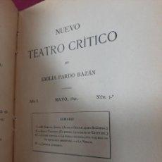 Libri antichi: NUEVO TEATRO CRITICO DE EMILIA PARDO BAZAN. 1891. Nº 5. Lote 190399638