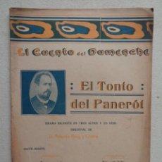 Libros antiguos: EL CUENTO DEL DUMENCHE.EL TONTO DEL PANEROT.ACTO SEGUNDO Nº248.REF.-853. Lote 190693133