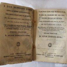 Libros antiguos: LOS DOS CONDES SUPUESTOS O EL MARIDO SIN MUGER,DRAMA JOCOSO EN MÚSICA 1789. Lote 191070173