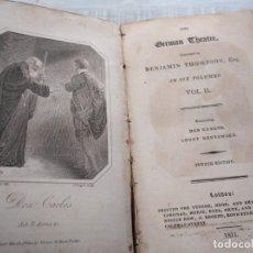 Libros antiguos: RARO: DON CARLOS, INFANT OF SPAIN - EDICIÓN TEMPRANA DE LA OBRA DE TEATRO DE F. SCHILLER (1811). Lote 191358268
