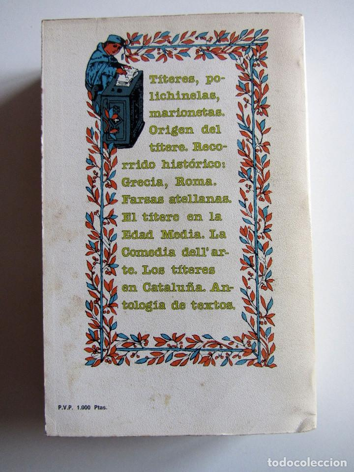 Libros antiguos: Titelles. Teatro popular. Francisco Porras. Biblioteca de visionarios heterodoxos y marginados. - Foto 2 - 191717542