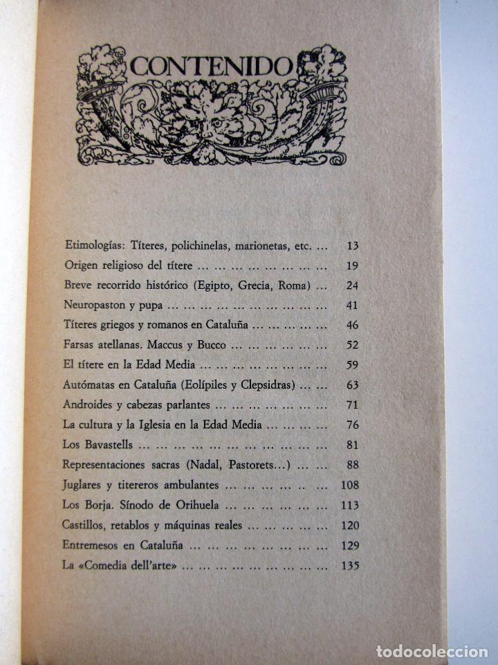 Libros antiguos: Titelles. Teatro popular. Francisco Porras. Biblioteca de visionarios heterodoxos y marginados. - Foto 6 - 191717542