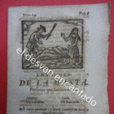 Libros antiguos: ENTREMESES DE LA MANTA. TEATRO S.XVIII. MATHEO IMPRESOR. BARCELONA 1779. Lote 192558506