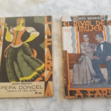 Libros antiguos: LA FARSA NÚMEROS 94 Y 321 JACINTO BENAVENTE COMEDIAS PEPA DONCEL 1929 Y EL RIVAL DE SU MUJER 1933. Lote 192712453