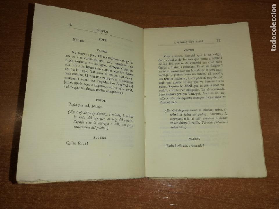 Libros antiguos: LALEGRIA QUE PASSA. SANTIAGO RUSIÑOL. 1905 - Foto 4 - 192775836