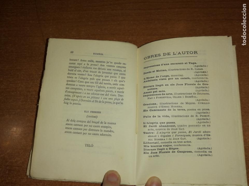 Libros antiguos: LALEGRIA QUE PASSA. SANTIAGO RUSIÑOL. 1905 - Foto 5 - 192775836