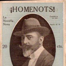 Libros antiguos: LAMBERT ESCALER : HOMENOTS (LA NOVEL.LA NOVA, C. 1920) - CATALÁN. Lote 192856487