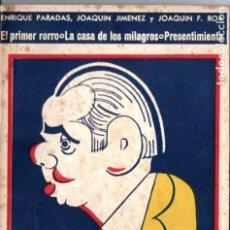 Libros antiguos: PARADAS, JIMÉNEZ Y ROA . TRES OBRAS (BIBLIOTECA TEATRAL, C. 1920). Lote 192888420