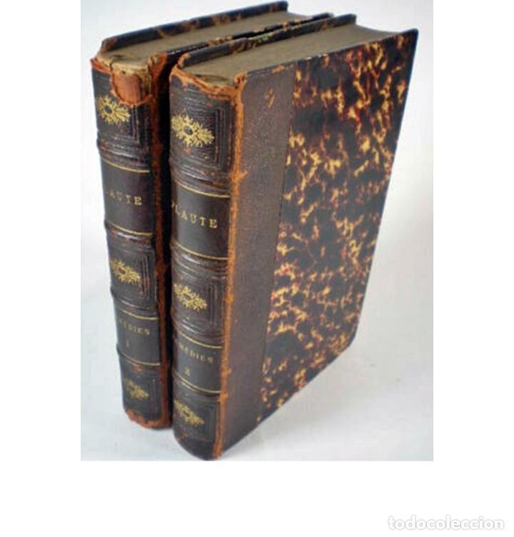 AÑO 1876: LAS COMEDIAS DE PLAUTO. 2 ELEGANTES TOMOS DE TEATRO DEL SIGLO XIX. (Libros antiguos (hasta 1936), raros y curiosos - Literatura - Teatro)