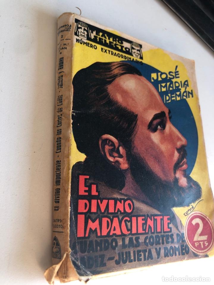 Libros antiguos: El divino impaciente - Foto 2 - 194406736