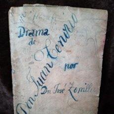 Libros antiguos: LIBRO (TEATRO) / *DON JUAN TENORIO*. AUTOR: JOSE ZORRILLA. EDITA: MAUCCI. PORTADA REALIZADA A MANO.. Lote 194499255