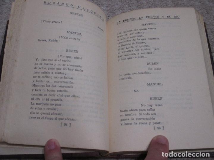 Libros antiguos: La Ermita, la fuente y el río, de Eduardo Marquina, 1927 - Foto 3 - 194558651