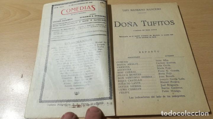 Libros antiguos: COMEDIAS - DOÑA TUFITOS - LUIS MANZANO - 1926M302 - Foto 3 - 194912092